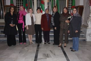 Christy and Rae Ann with 5 members of the Oran, Algeria Wilaya People's Assembly
