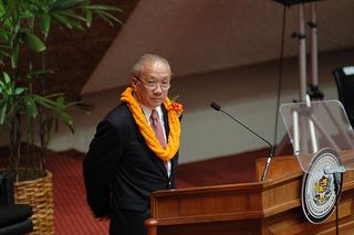 Speaker Calvin Say in the Hawaii House chamber