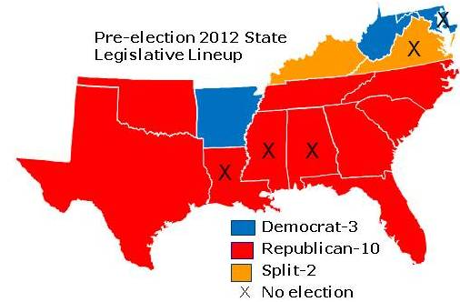 Pre-election 2012 South